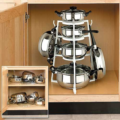 Plastic Kitchen Multi-functional Pot rack Pot Holder Pan Organizer