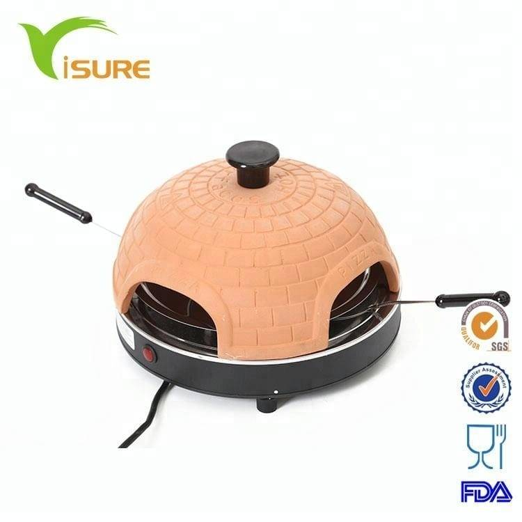 800W automatic electric 4 person mini pizza oven clay