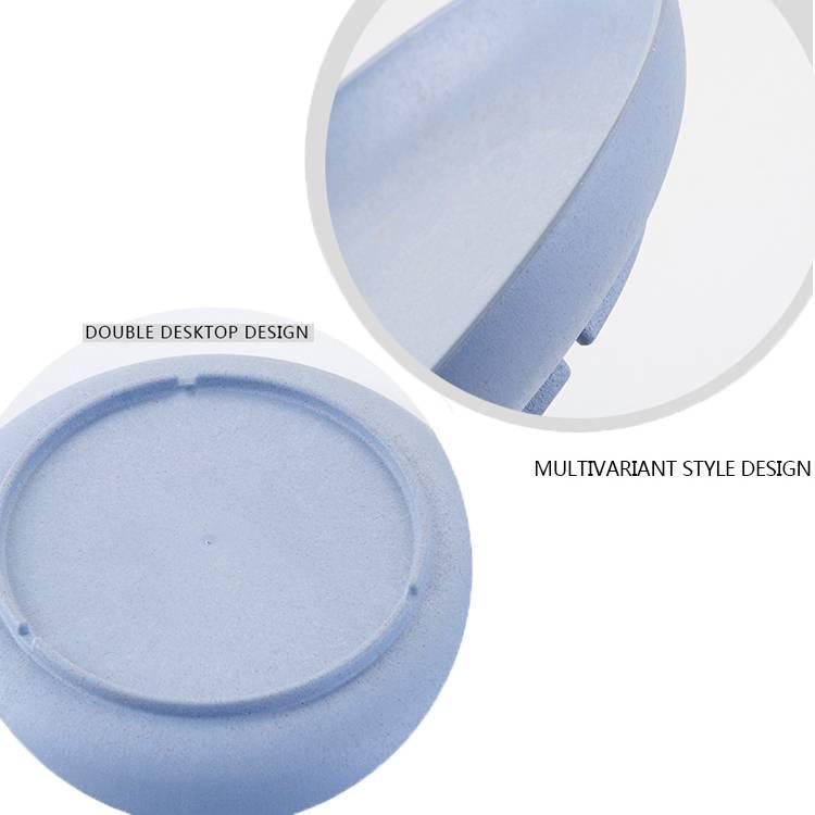 Set of 4 Color Break-Resistant Dish Tableware Natural Wheat Straw Plates Set for Fruit Snacks Food