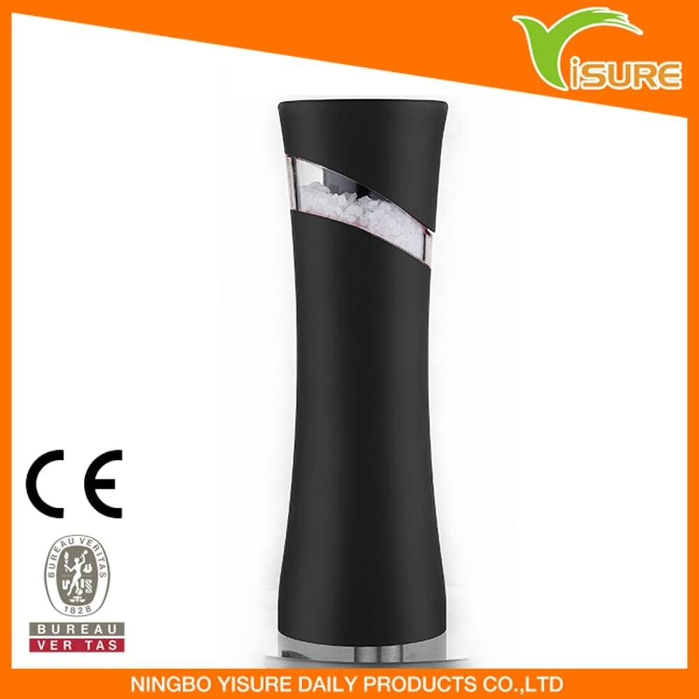 Aluminum Circle Plate Pepper Mill With Light -