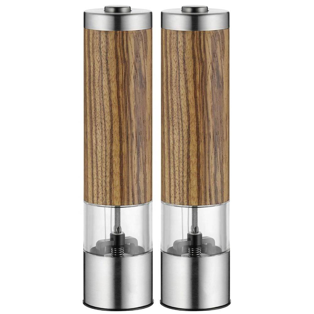 electric salt and pepper mill  9553 bamboo salt and pepper grinder