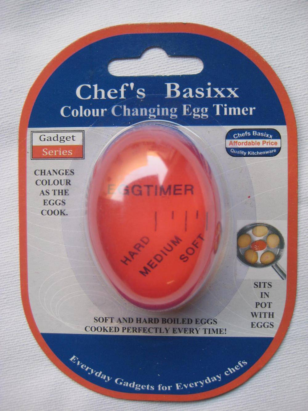 Egg-Per'fect Color Changing Egg Timer Egg Thermometer Cooking Timer Tools