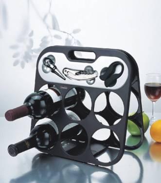 3 in 1 Kitchen Master 6pcs Wine Rack Wine Bottle Rack Holder Shelf Barware Tool
