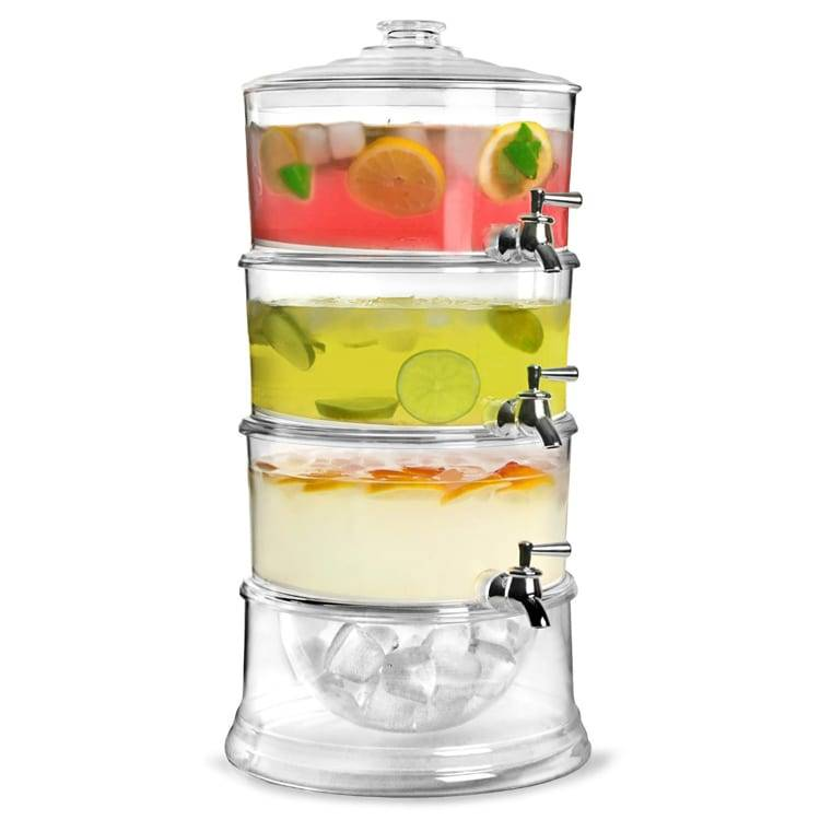 3 Tier Juice Dispenser With Two Tubes