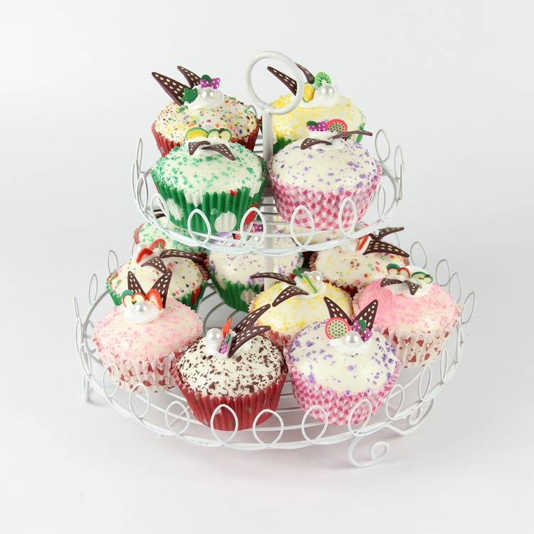 New 2 tier cupcake stand with 15 pcs for wedding, party