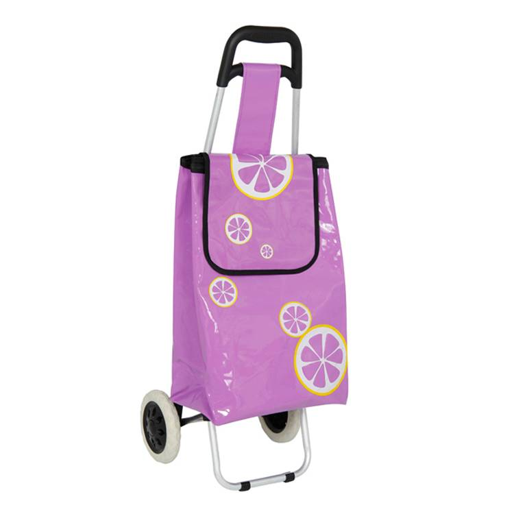 Trolley Dolly with handle,  Purple Shopping Grocery Foldable Cart Tailgate