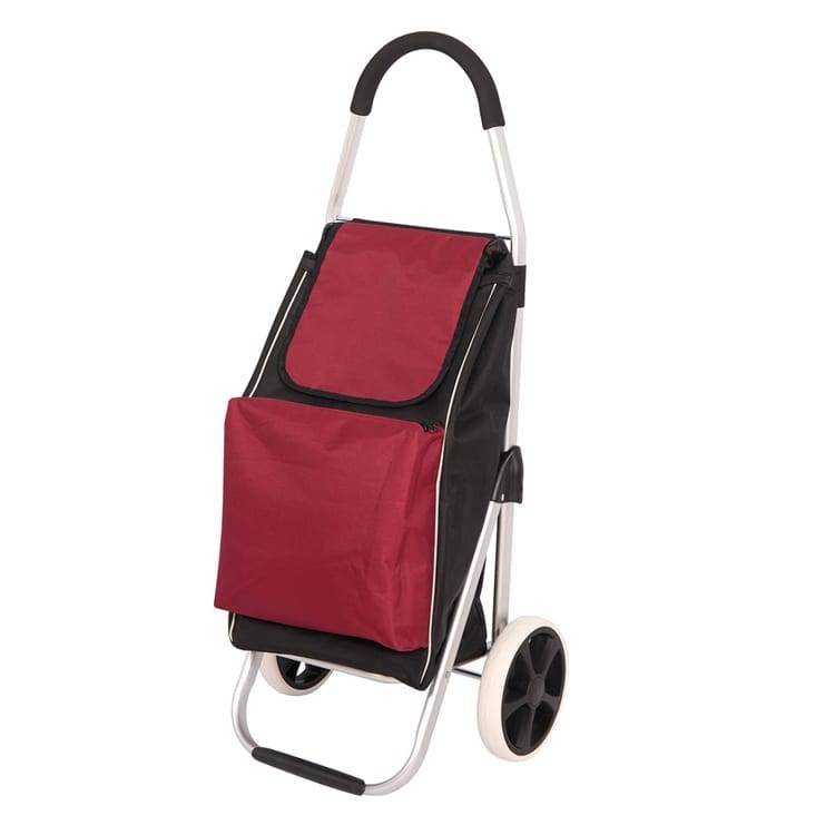 Foldable shopping cart trolley with a bag