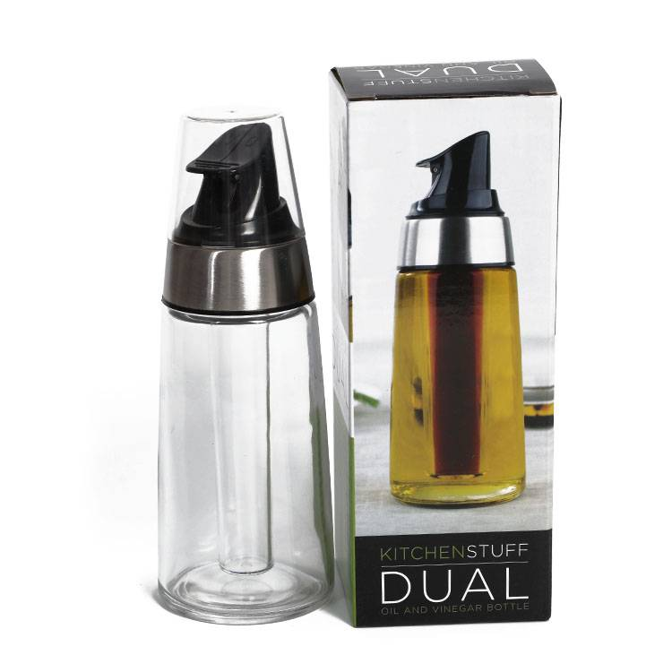 Glass Oil and Vinegar Bottle Dispenser For Cooking