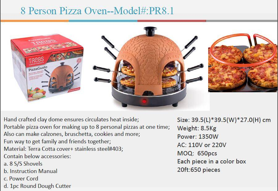 Electric automatic 8 person hm pizza maker oven