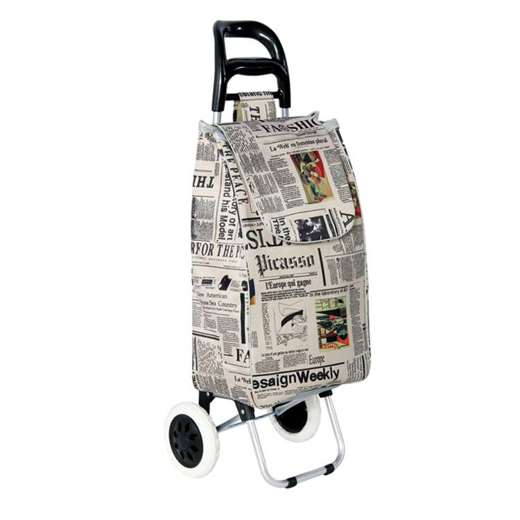 Best Seller Trolley Dolly, Gray Shopping Grocery Foldable Cart Trolley, Gray Shopping Grocery Foldable