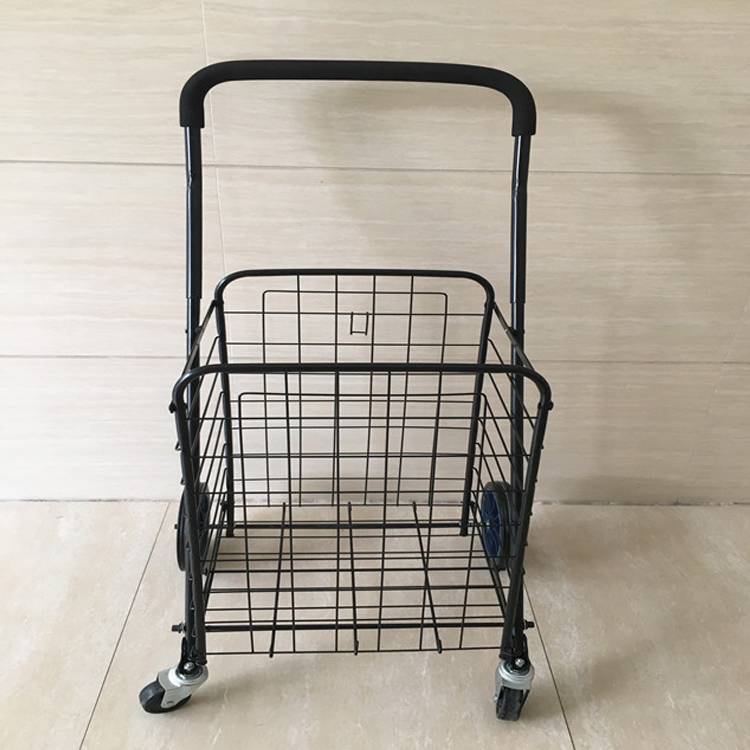 Utility Shopping Cart - Durable Folding Design for Easy Storage