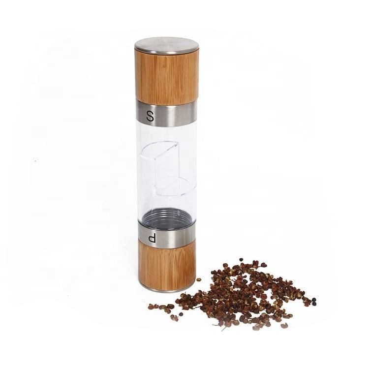 Stainless Steel salt pepper mill 9611 2 in 1 Manual Salt & Pepper Mill