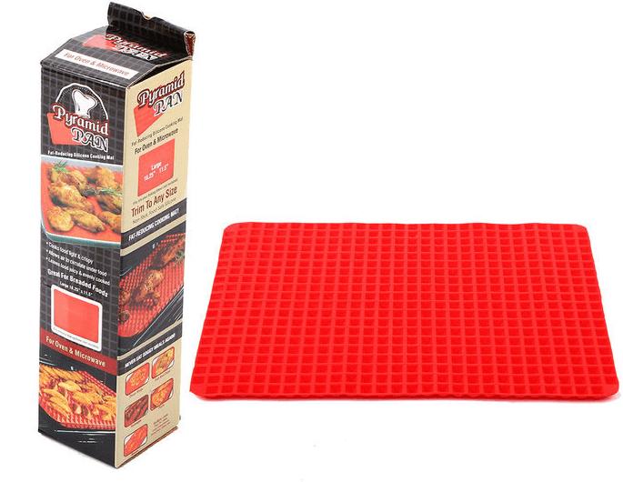 Fat-reducing Silicone Cooking Mat pryamid Pan Food Grade BBQ Mat Non Stick Raised Cone Shaped Silicone Baking Mat