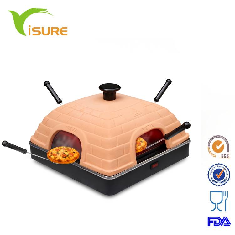 Natural ZISHA Clay Pizza oven Electric Pie Oven Pizza Dome For 1 person