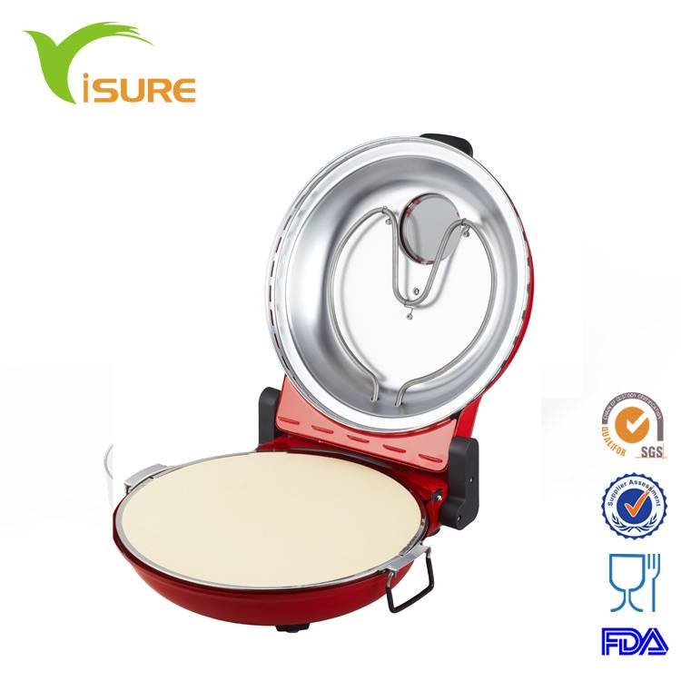 Restaurant Electric Pizza Oven Maker Machine with view window cooking in 5 minutes,timer,ceramic plate