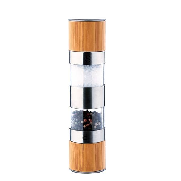 two in one stainless steel pepper grinder 9609B 2 in 1 Salt & Pepper Mill