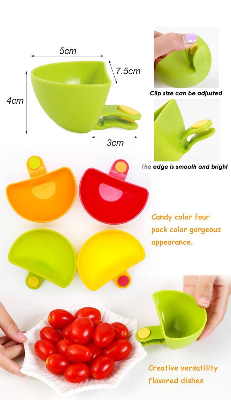 New product plastic sauce plate on bowl dip clip