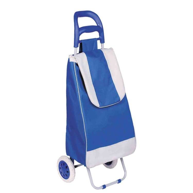 Light weight Wheeled Shopping Trolley Bag – Heavy Duty Collapsible Rolling Cart
