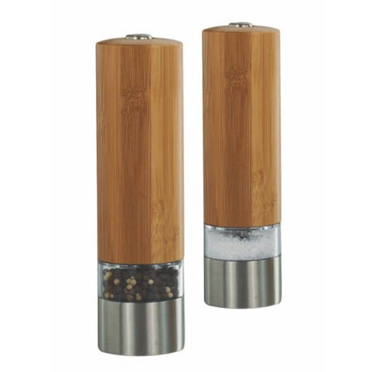 Hot amazon good use salt&pepper mill 9511 Bamboo Electric Pepper Mill