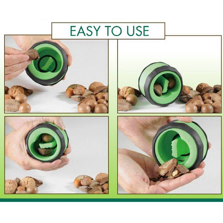 Rotation Nut Cracker wooden bowl with nut cracker