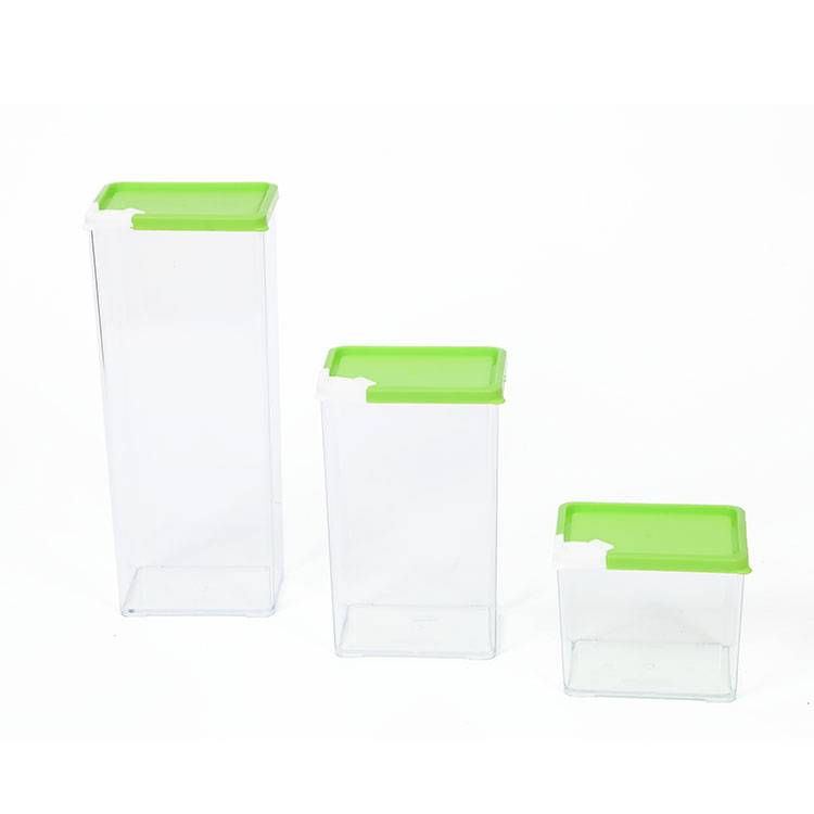 6pc Plastic Ez Pour Cereal Container Dispenser with stackable and interlocking flip-up lid