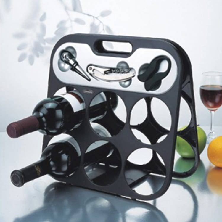 3 in 1 Kitchen Master 6pcs Wine Rack Wine Bottle Rack Holder Shelf Barware Tool