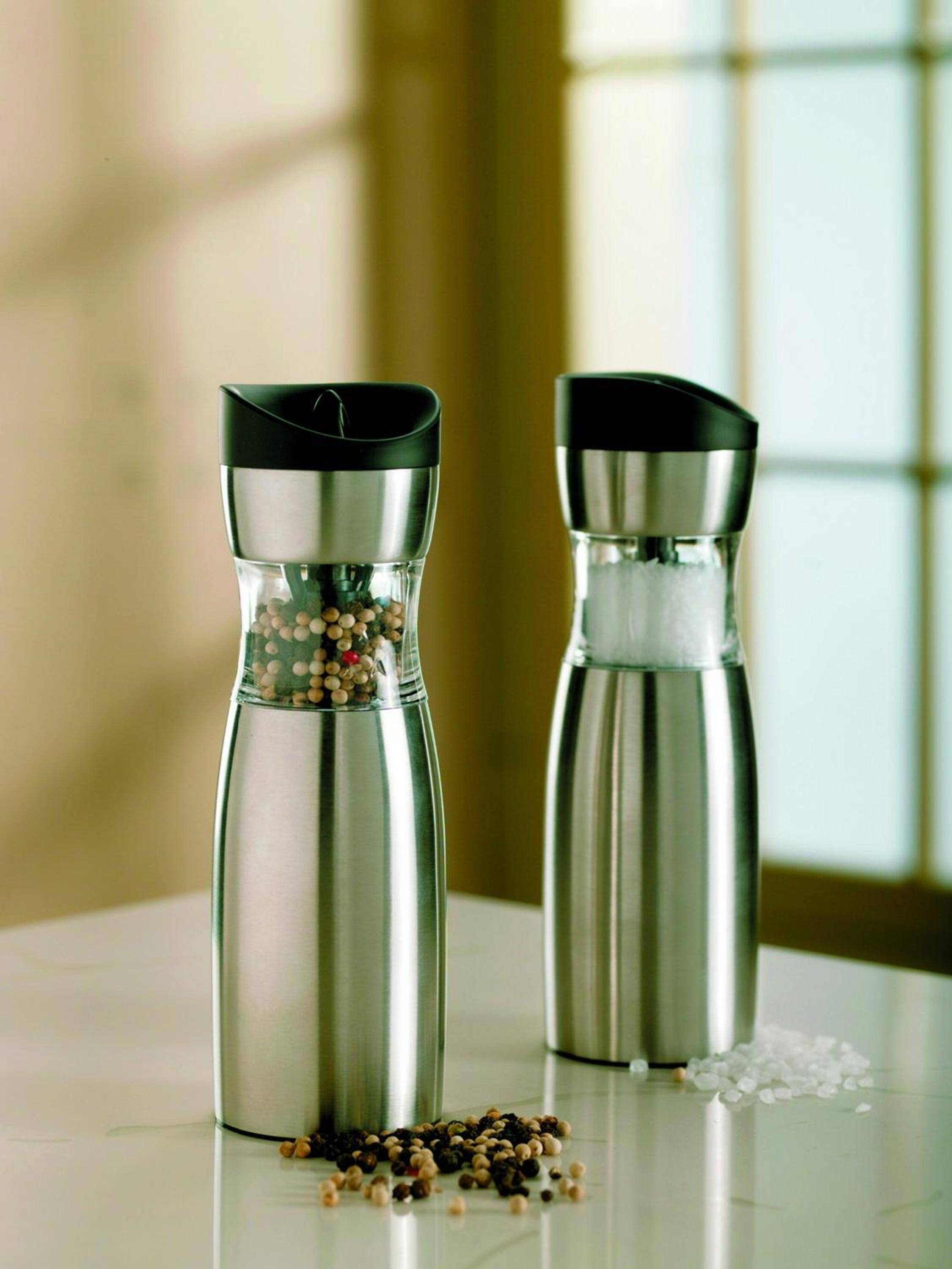 Stainless steel salt and pepper mill Gravity salt and pepper mill