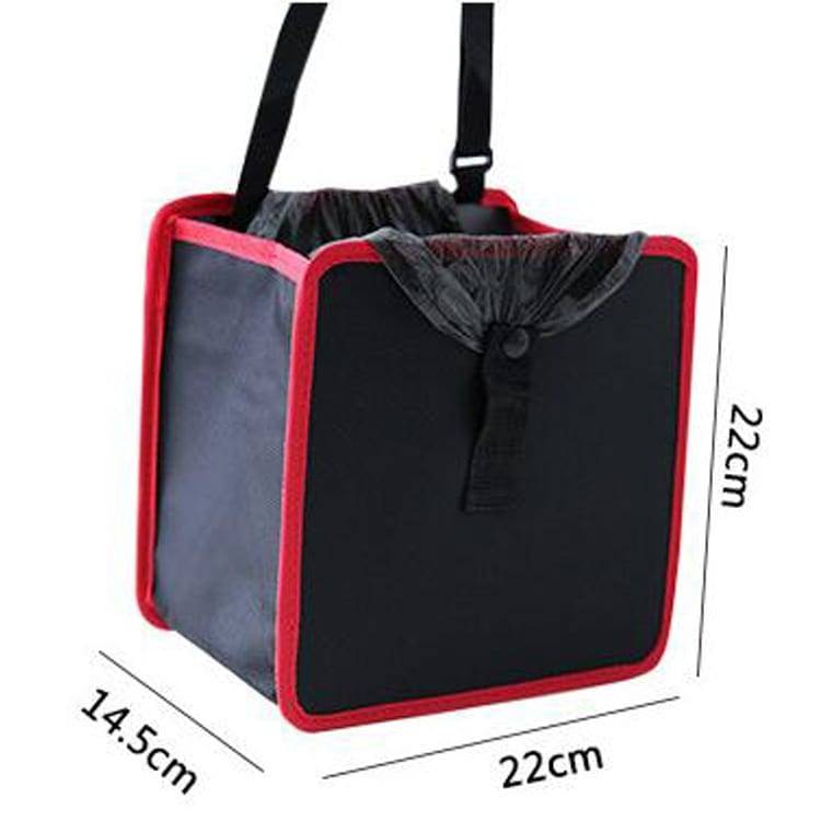 Hanging Car Trash Bag Can Premium Waterproof Litter Garbage Bag Trash Bin