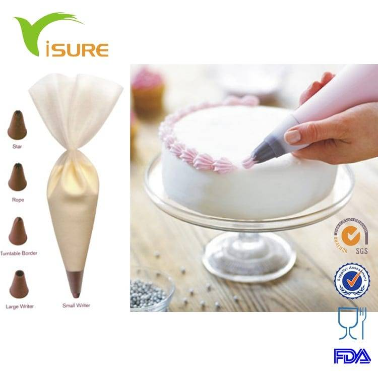 DIY Cake Silicone Piping Bag Set Decorating Set Kit Bakeware Cookware Set