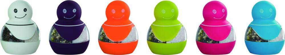 salt pepper mills 9619 Snow Man 2 in 1 Salt & Pepper Mill