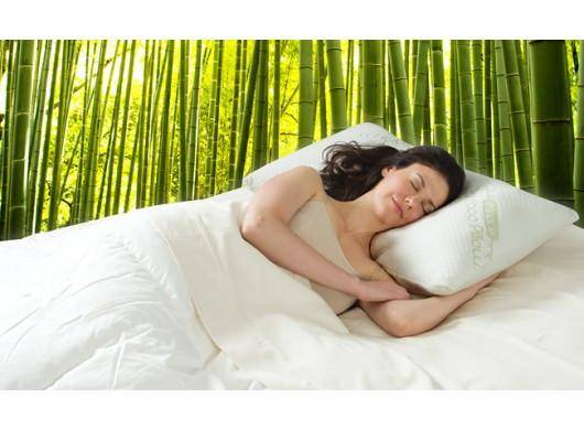 New Non-toxic Deluxe Miracle My Latex Bamboo Fiber Rest Pillow
