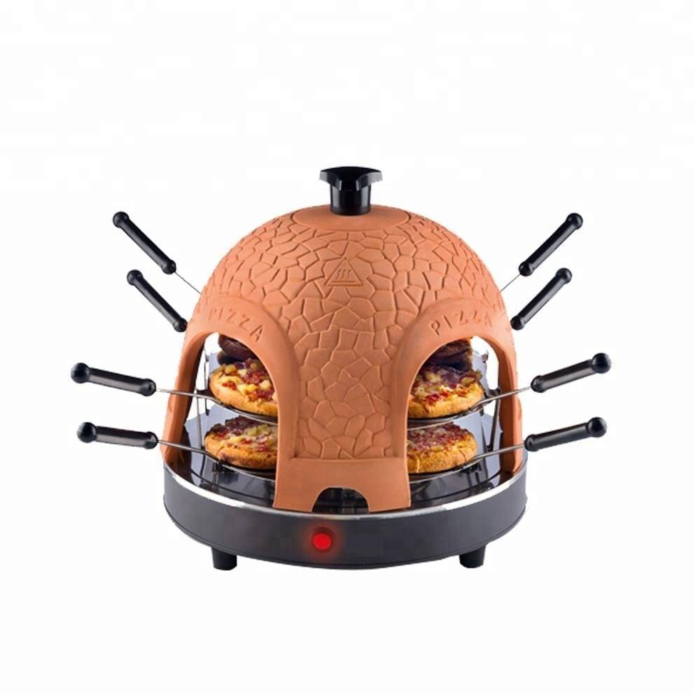 Pizza oven temperature gauge 8 person pizza maker