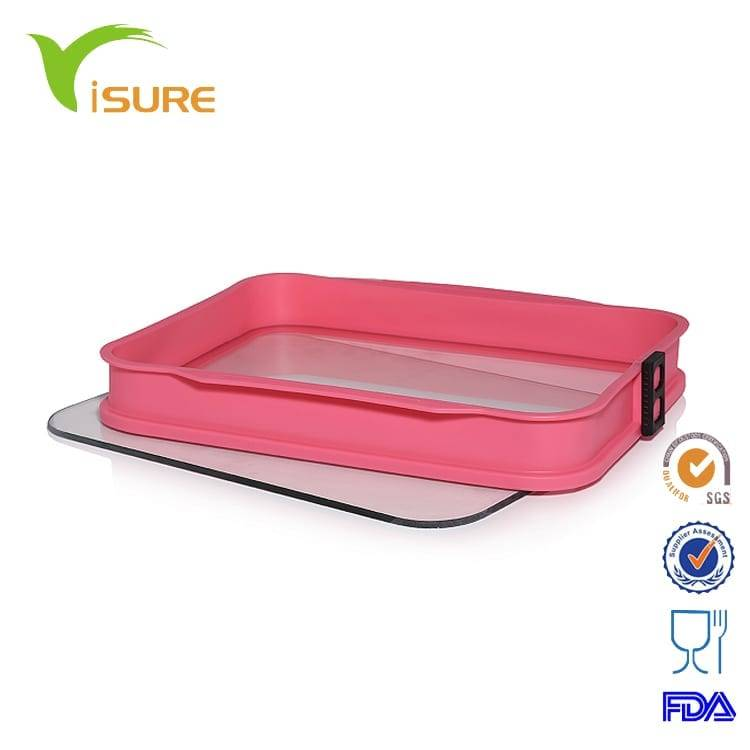 Glass cake mould silicone bakery form with tempered glass