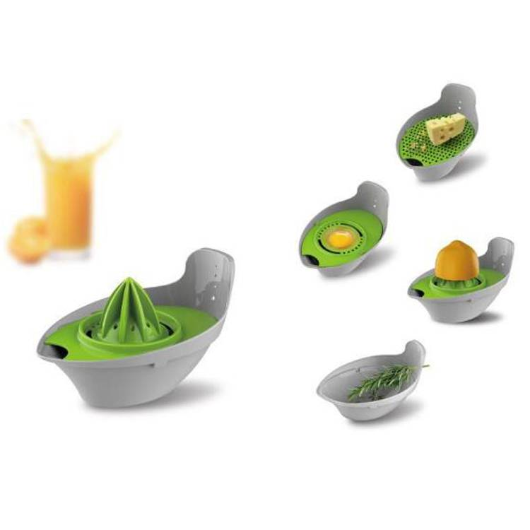 Food Safe Plastic Food Processor MultiFunction Kitchen Tool 4 in 1 Bowl Set