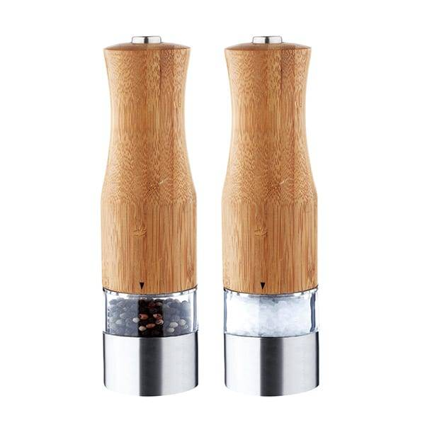Bamboo salt and pepper mill 9516B Electric Pepper Mill