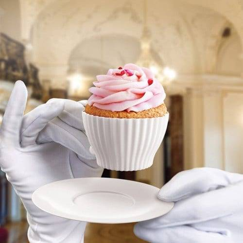 4pc Silicone Afternoon Cupcake Tea Cups