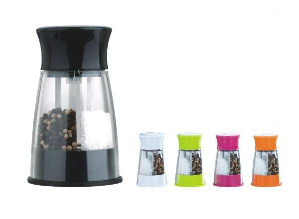 manual optional and  colorful salt and peppper grinder