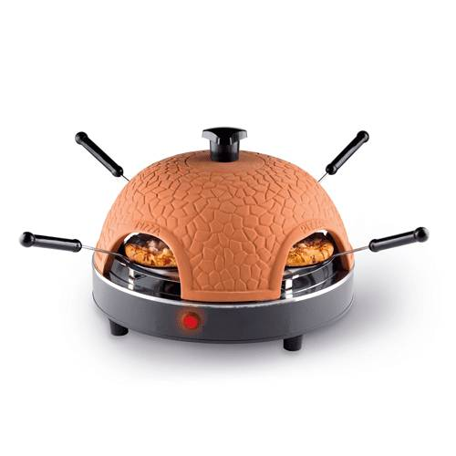 Countertop Terracotta oven Mini elektryske 4 persoan Pizza Dome Maker Machine