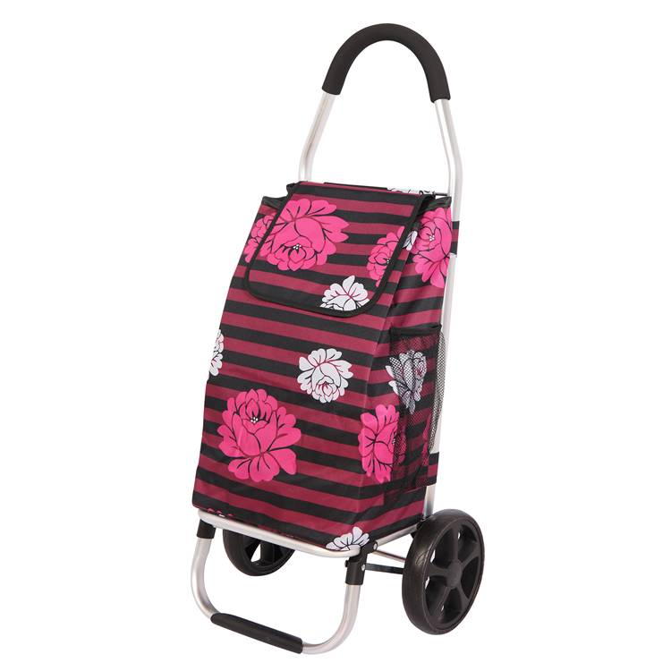 Bigger Trolley Dolly, Damask Shopping Grocery Foldable Cart