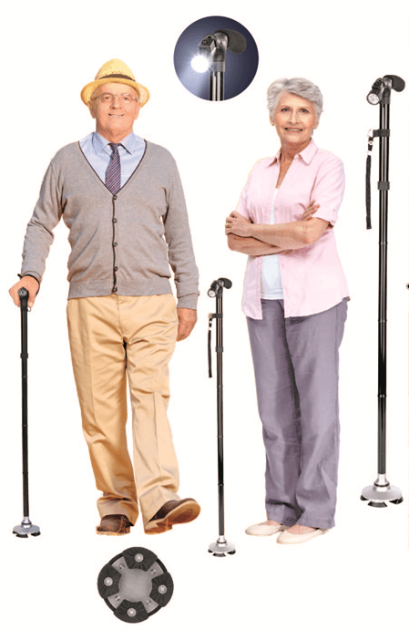 Old folding walking stick