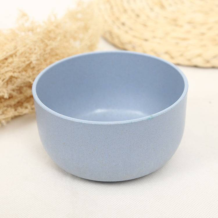 Food Safe 4 color Healthy Wheat Straw Plastic Rice Bowl Popular Europe Standard High Quality Plastic Mixing Bowl