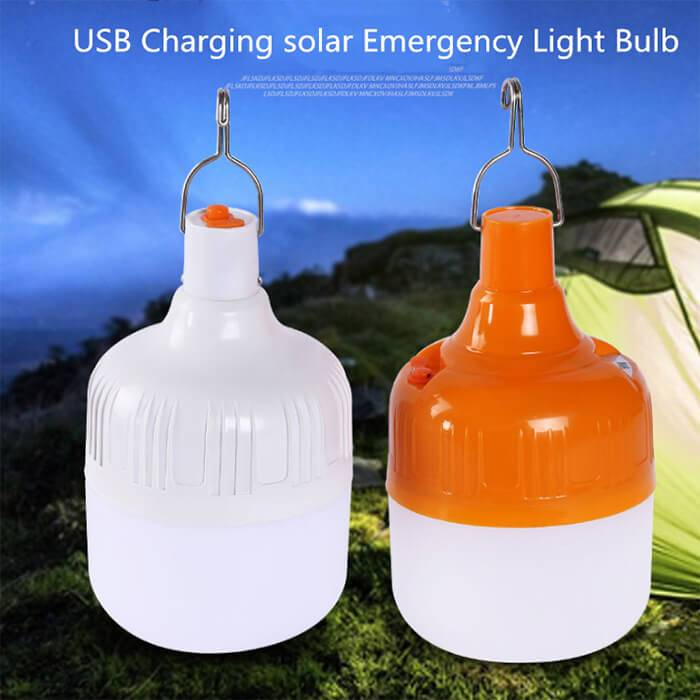 USB Charging solar Emergency Light Bulb 1
