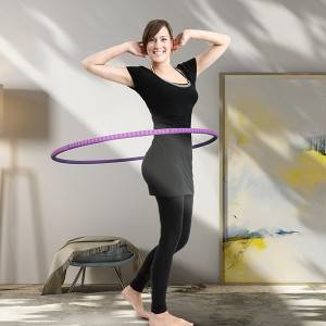 Fitness Hula Hoop1.25kg, Adjustable 11 Detachable Sections Weight Loss Fitness Hula Hoop for Exercise Workout Dancing Steel pipe WH-025