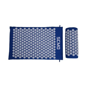 Acupressure Mat and Pillow Set with Carry Bag Acupuncture Pad for Back or Neck Cotton Massage Mat and Pillow Set