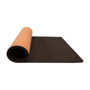 OEM Wholesale Pattern Custom Design Cork Natural Rubber Yoga Exercise Yoga Mat