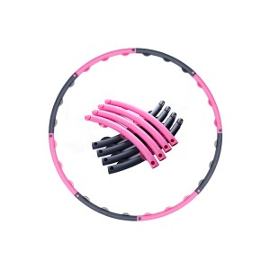 Eco-friendly Adjustable Losing Weight Flexible Hula Hoop ring detachable gymnastic plastic tube foam handle hula hoop for adults  WH-060
