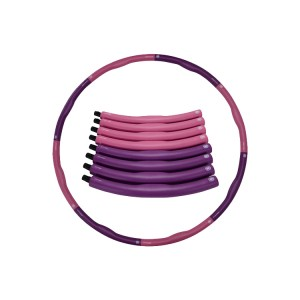 Fitness Hula Hoop1.2kg, Weighted Exercise Hula Hoop for Adults Kids, Adjustable 8 Detachable Sections Weight Loss Fitness Hula Hoop for Exercise Workout Dancing Soft Ruler