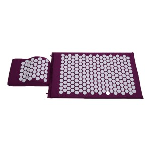 Flower of life spike high quality acupressure massage mat best back pain relief acupressure mat and pillow set