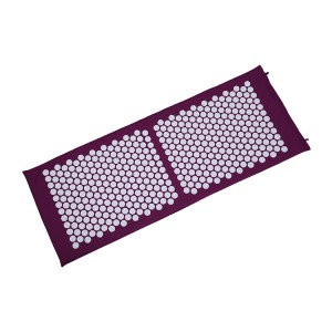 Folding Back/Neck Pain Relief Yoga Acupressure Massage Mat with Round Spikes