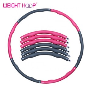 Eco-friendly Adjustable Losing Weight Flexible Hula Hoop ring detachable gymnastic plastic tube foam handle hula hoop for adults
